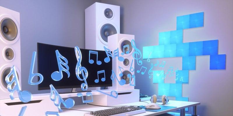 音楽に合わせたイルミネーション機能