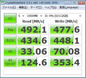 CrystalDiskMark 3.0.1 0Fill(All 0x00)