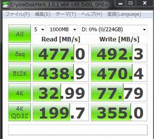 CrystalDiskMark 3.0.1 0Fill(All 0x00)