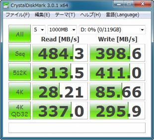 CrystalDiskMark 3.0.1(ランダム)