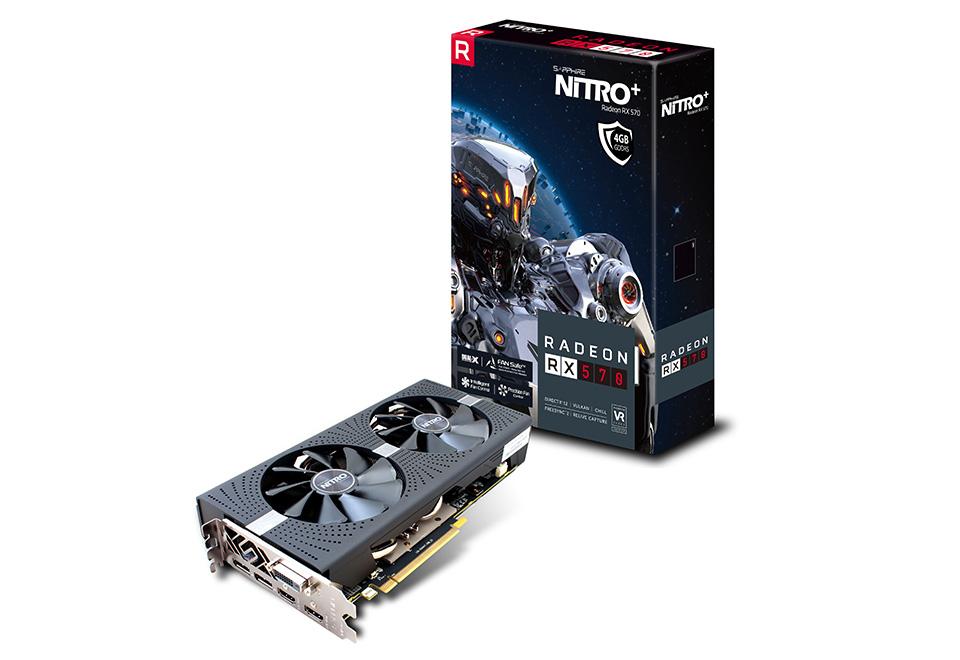 Radeon RX 570 4 GB GDDR5 PCIe 3.0 x16 RX 570-11266-14-20G Sapphire NITRO