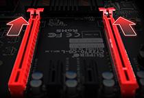 PCI Express 3.0 x16スロットを2基搭載