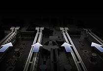 PCI Express 3.0 x16スロットを4基搭載