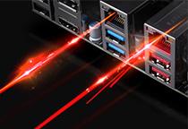 優れたパフォーマンスを実現するIntel LANを2基搭載