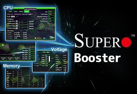 オーバークロック設定が行える「SuperO Booster」