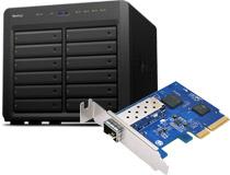 高速データ通信を実現する10GbE SFP+ポートを装備