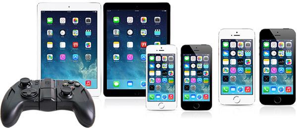 Apple製デバイスに対応したワイヤレスゲームコントローラー