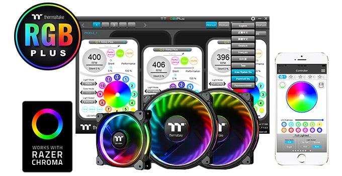 カスタマイズ可能なRGBファンを搭載(LEVEL 20 GT RGB Plus)