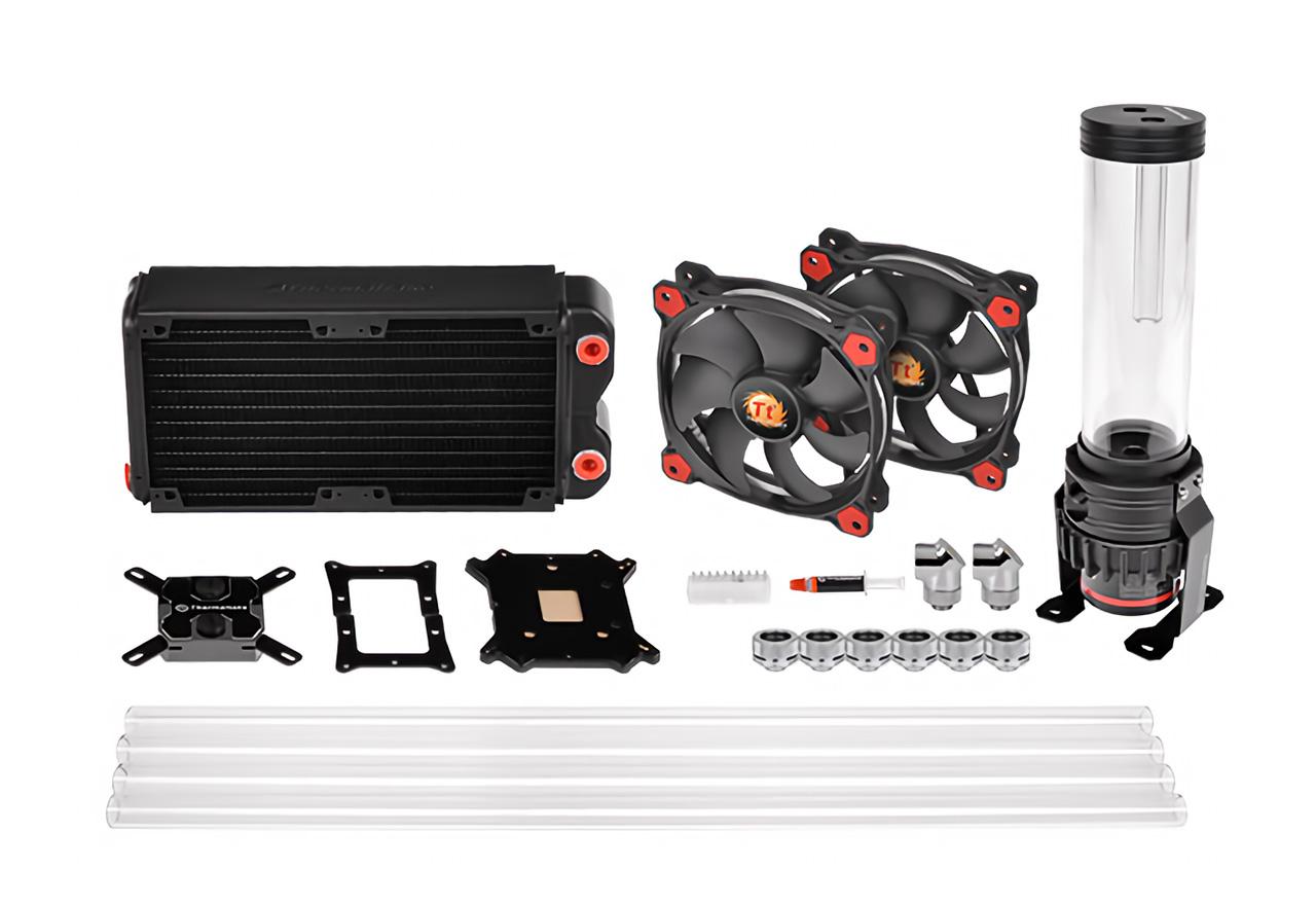 pacific gaming rl240 d5 petg water cooling kit thermaltake