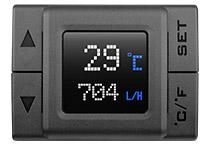 クーラントの温度と流量を表示可能