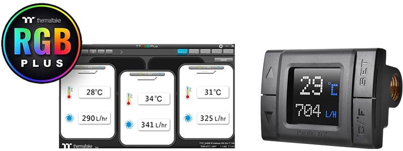 「TT RGB PLUS」ソフトウェアでモニタリング可能