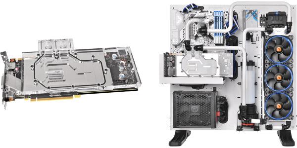 空冷仕様のグラフィックスボードを高冷却する水冷化キット