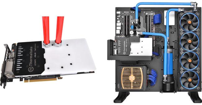 空冷仕様のグラフィックボードを高冷却する水冷化キット