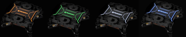 ロゴマークが4色で光るLEDを装備(Pacific W2)