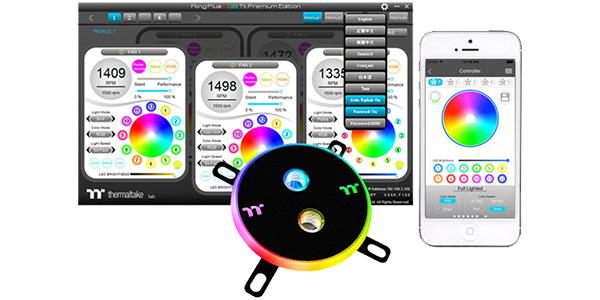 1,680万色発光のRGB LEDを装備(Pacific W4 Plus)