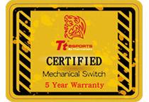 Tt eSPORTS認定のブルースイッチを採用
