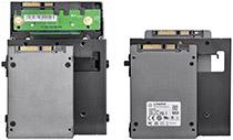 3.5/2.5インチドライブを各2基搭載可能