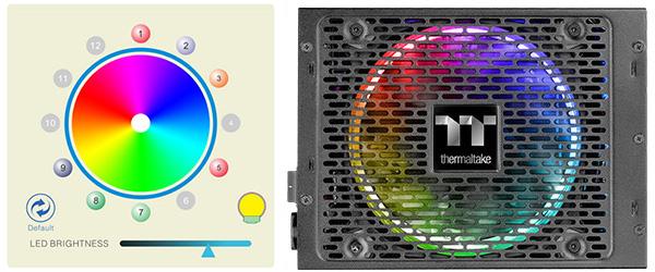 RGB発光に対応したRiing Plus 14 RGBファンを搭載