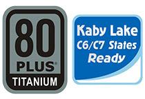 80PLUS TITANIUM認証取得の高効率設計