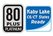 80PLUS PLATINUM認証取得の高効率設計