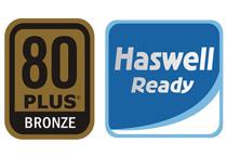 80 PLUS Bronze認証取得の高効率設計