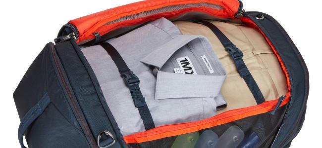大きな開口部で荷造りやアイテムの取り出しが簡単