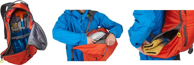 収納と取り出しを考え抜かれた大きめの収納部とサイドポケットを用意