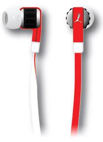 PUMAブランドのカラフルなインイヤーヘッドフォン