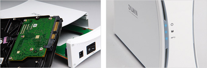 HDDを簡単に取り付けることができる外付けHDDケース