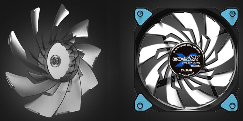 強力なエアフローを生むデュアルブレード設計