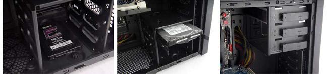 ツールフリーHDDベイを採用、SSDマウンタも付属