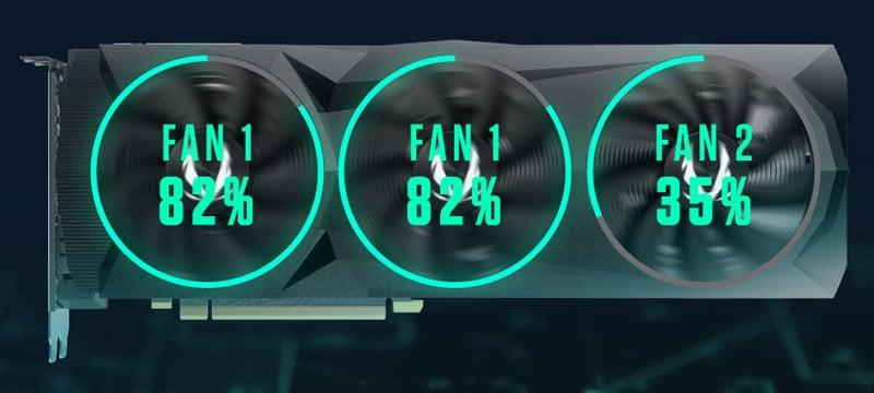 2つのグループでファン制御が行えるアクティブファンコントロール