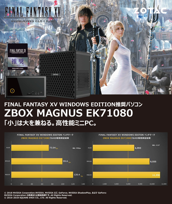 FINAL FANTASY XV WINDOWS EDITION推奨PC