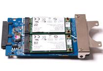 mSATA SSDを2基搭載できる「ZOTAC nanoRAID」アダプタ
