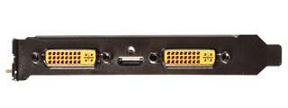 DVI-I×2とMini-HDMI×1 映像出力端子を装備