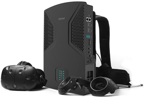 VR向けに最適な背負えるバックパック型PC